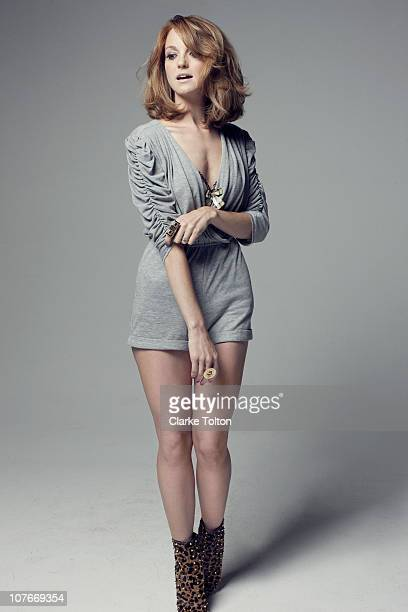 Actress Jayma Mays poses at a portrait session in Los Angeles California for Nylon Magazine on July 10 2010