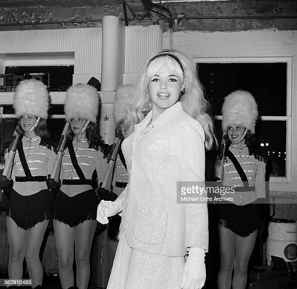 Actress Jayne Mansfield attends an event in Los AngelesCalifornia
