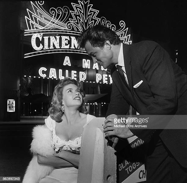 Actress Jayne Mansfield poses out on the town in Los AngelesCalifornia
