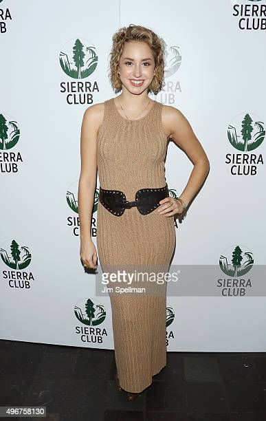 Actress Jazmin Grace Grimaldi attends the Sierra Club's Act In Paris a night of comedy and climate action at Heath at the McKittrick Hotel on...