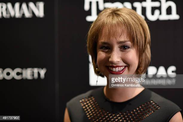Actress Jazmin Grimaldi attends the Giorgio Armani and Cinema Society screening of Sony Pictures Classics' 'Truth' at Museum of Modern Art on October...