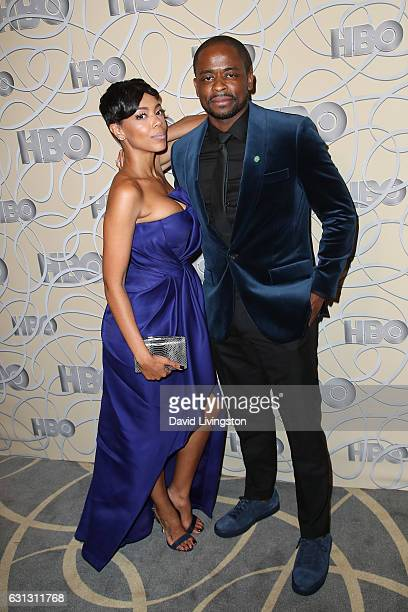 Actress Jazmyn Simon and actor Dule Hill arrive at HBO's Official Golden Globe Awards after party at the Circa 55 Restaurant on January 8 2017 in Los...