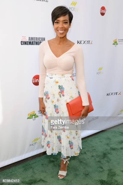 Actress Jazmyn Simon attends Earth Focus Environmental Film Festival screening of Paramount Pictures' 'An Inconvenient Sequel' at Sherry Lansing...