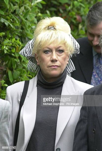 Actress Jean Ferguson from Last of the Summer Wine after the funeral service for Liz Sherlock at Mortlake crematorium in London Liz Sherlock was run...