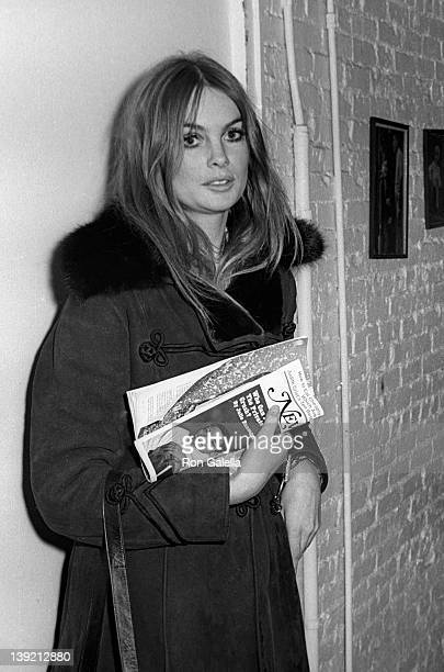 Actress Jean Shrimpton attends the taping of 'The Merv Griffin Show' on January 9 1969 at CBS TV Studios in New York City