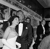 Actress Jean Simmons and husband actor Stewart Granger attend the premiere of 'The Big Country' in Los AngelesCA