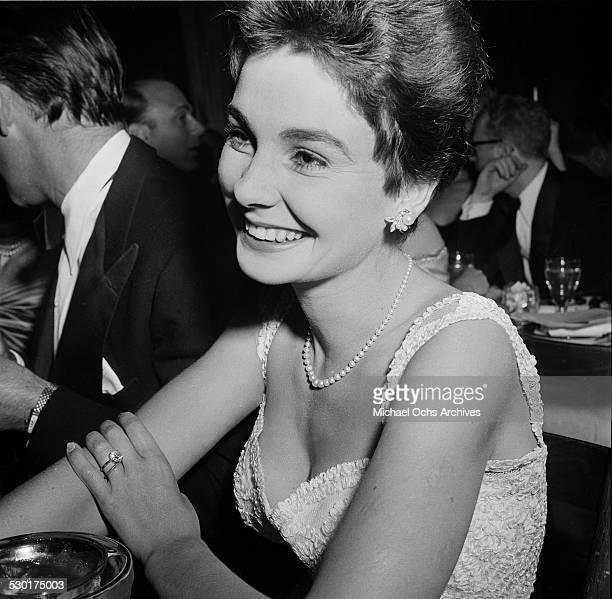 Actress Jean Simmons attends the Golden Globe Awards at Ciro's nightclub in Los AngelesCA