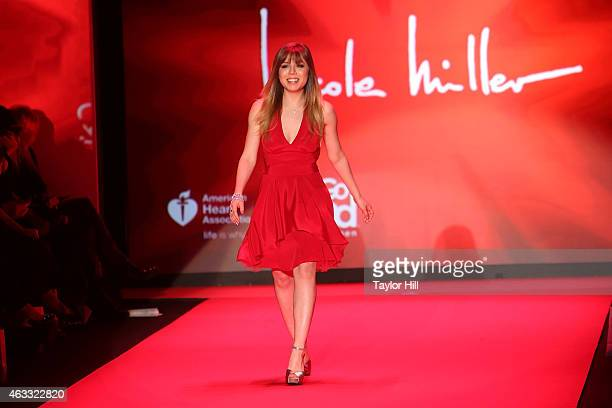 Actress Jeanette McCurdy walks the runway during the Go Red For Women fall 2015 fashion show on February 12 2015 in New York City