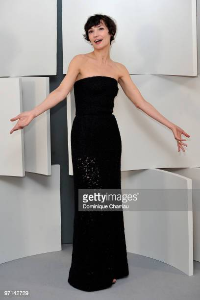 Actress Jeanne Balibar poses in Awards Room during 35th Cesar Film Awards at Theatre du Chatelet on February 27 2010 in Paris France