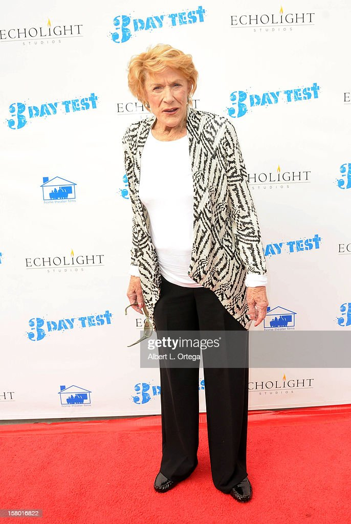 Actress Jeanne Cooper arrives for the the screening of '3 Day Test' held at Downtown Independent Theater on December 8, 2012 in Los Angeles, California.