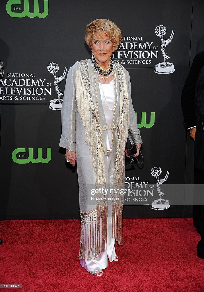 Actress Jeanne Cooper attends the 36th Annual Daytime Emmy Awards at The Orpheum Theatre on August 30, 2009 in Los Angeles, California. (Photo by Frazer Harrison/Getty Images