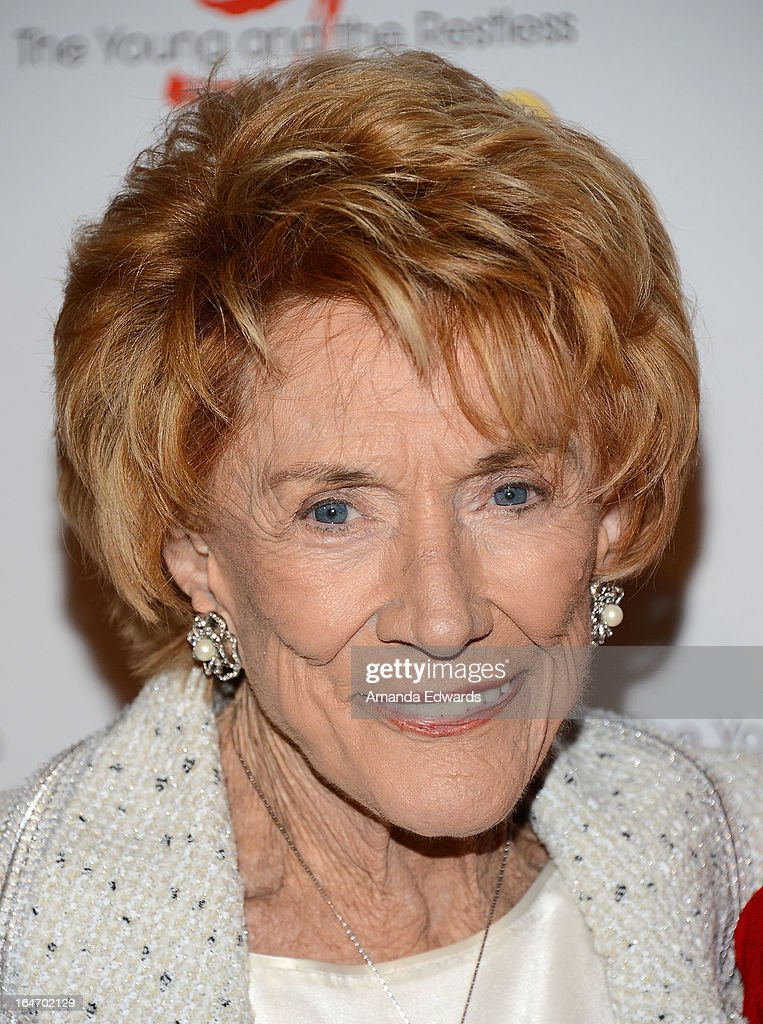 Actress <a gi-track='captionPersonalityLinkClicked' href=/galleries/search?phrase=Jeanne+Cooper&family=editorial&specificpeople=208646 ng-click='$event.stopPropagation()'>Jeanne Cooper</a> attends the 'The Young & The Restless' 40th anniversary cake-cutting ceremony at CBS Television City on March 26, 2013 in Los Angeles, California.