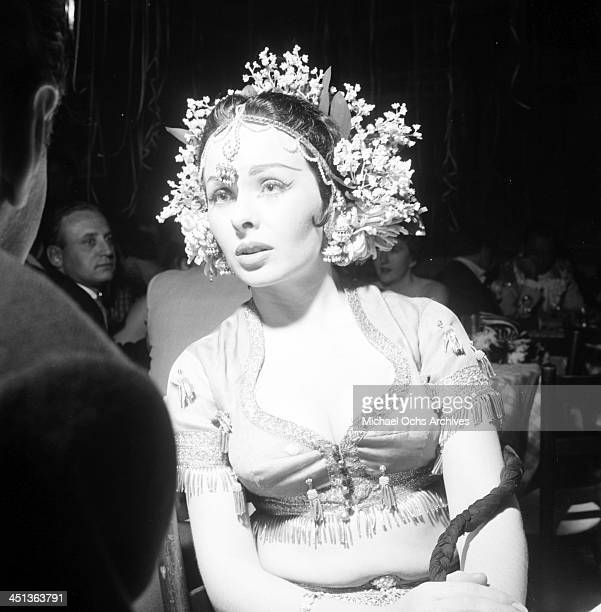 Actress Jeanne Crain attends the Sonja Henie Circus Party in Los Angeles California