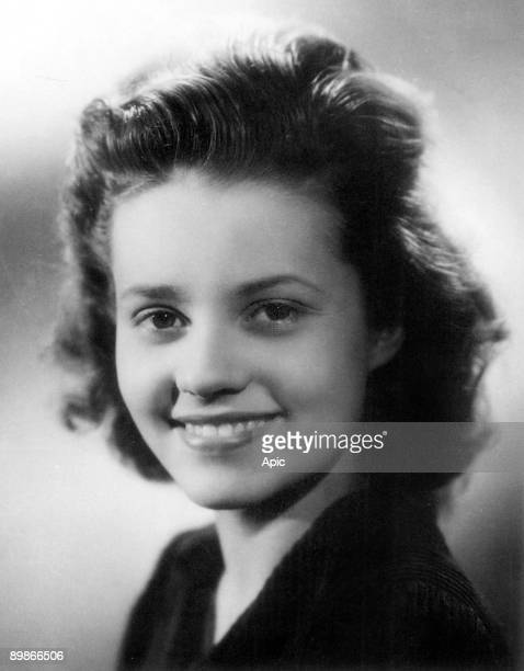 Actress Jeanne Moreau young c 1943