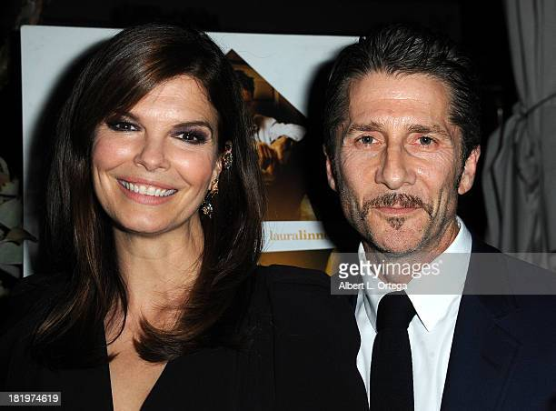 Actress Jeanne Tripplehorn and actor/director Leland Orser attend C Magazine Dinner And Reception Celebrating Leland Orser's 'Morning' held at...
