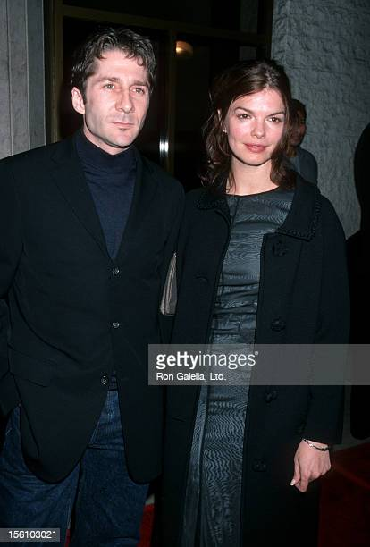 Actress Jeanne Tripplehorn and Leland Orser attending the screening of 'The Bone Collector' on November 2 1999 at Mann National Theater in Westwood...