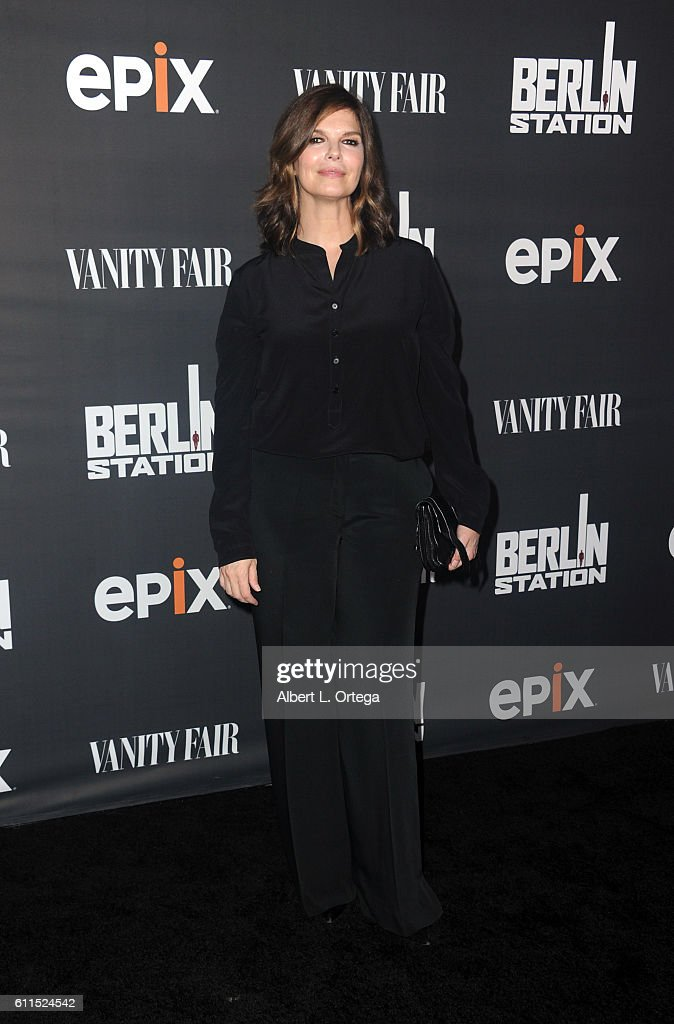 Actress Jeanne Tripplehorn arrives for the Premiere Of EPIX's 'Berlin Station' held at Milk Studios on September 29, 2016 in Hollywood, California.