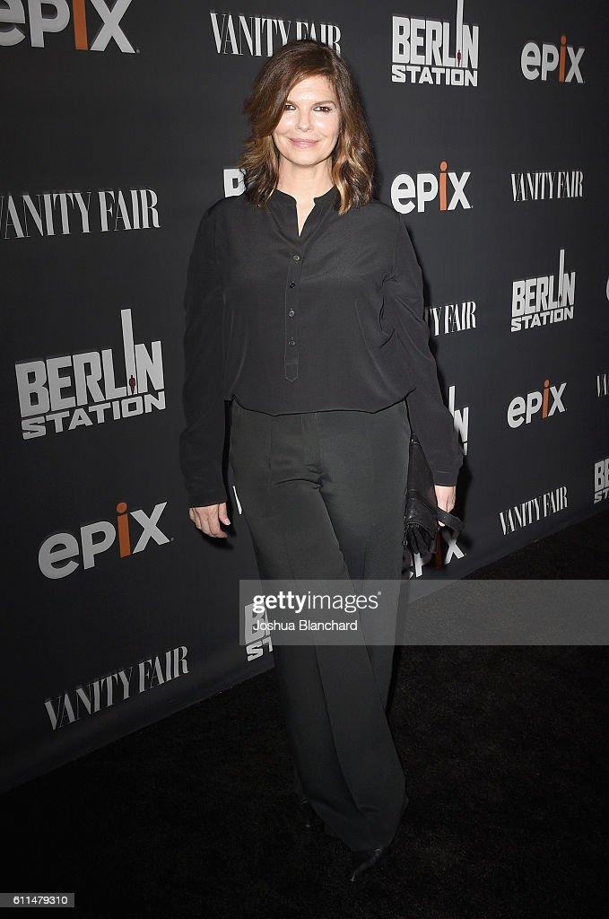 Actress Jeanne Tripplehorn attends EPIX 'Berlin Station' LA premiere at Milk Studios on September 29, 2016 in Los Angeles, California.