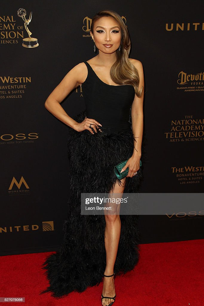 Actress Jeannie Mai attends the 2016 Daytime Emmy Awards - Arrivals at Westin Bonaventure Hotel on May 1, 2016 in Los Angeles, California.