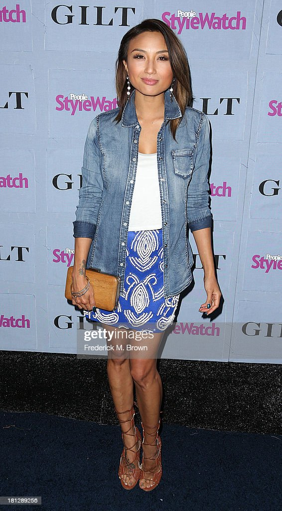 Actress <a gi-track='captionPersonalityLinkClicked' href=/galleries/search?phrase=Jeannie+Mai&family=editorial&specificpeople=5848549 ng-click='$event.stopPropagation()'>Jeannie Mai</a> attends the People StyleWatch Denim Awards by GILT at the Palihouse on September 19, 2013 in West Hollywood, California.