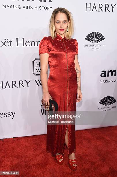 Actress Jemima Kirke attends the 2016 amfAR New York Gala at Cipriani Wall Street on February 10 2016 in New York City