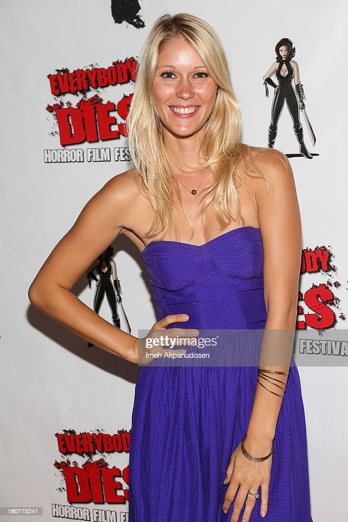 Actress Jen Araki attends the premiere of 'Kill Her, Not Me' during the closing night of the Everybody Dies Film Festival on September 15, 2013 in Brea, California.