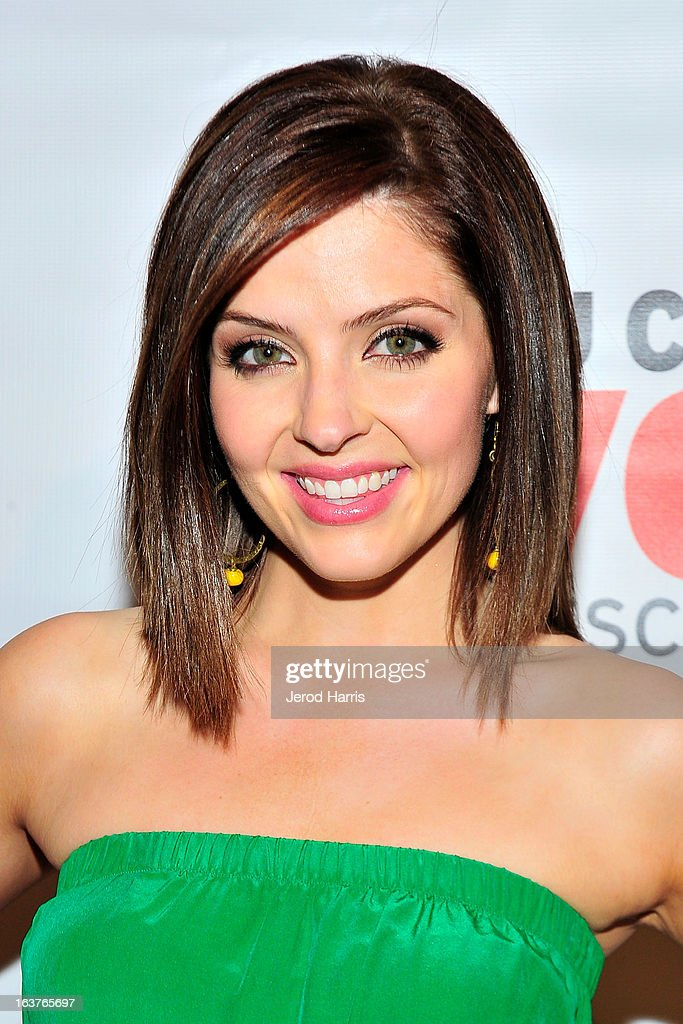 Actress Jen Lilley arrives at Dr. Davis B. Nguyen and Much Love Animal Rescue host ÒMakeover for MuttsÓ at The Peninsula Hotel at Peninsula Hotel on March 14, 2013 in Beverly Hills, California.