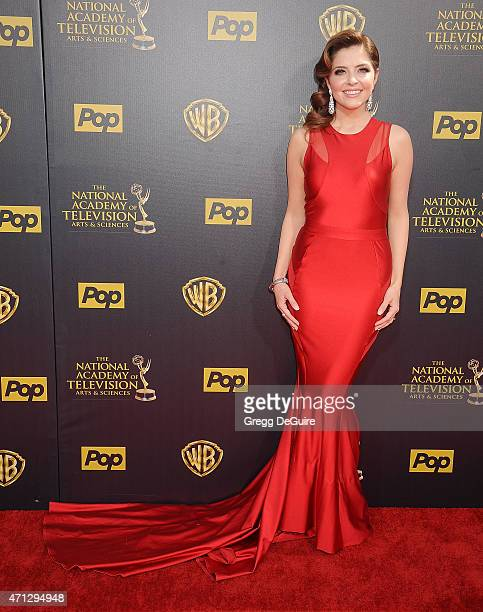 Actress Jen Lilley arrives at the 42nd Annual Daytime Emmy Awards at Warner Bros Studios on April 26 2015 in Burbank California