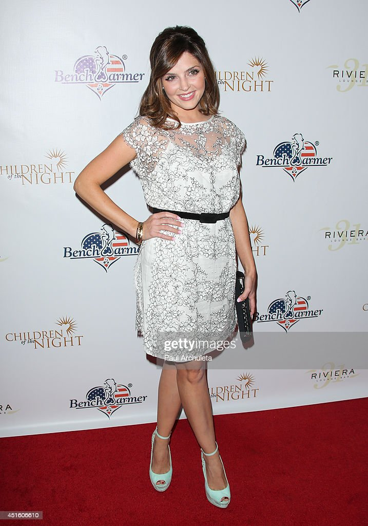 Actress <a gi-track='captionPersonalityLinkClicked' href=/galleries/search?phrase=Jen+Lilley&family=editorial&specificpeople=7591259 ng-click='$event.stopPropagation()'>Jen Lilley</a> attends the annual Stars & Stripes charity event hosted by Children Of The Night and BenchWarmer's on July 1, 2014 in Los Angeles, California.