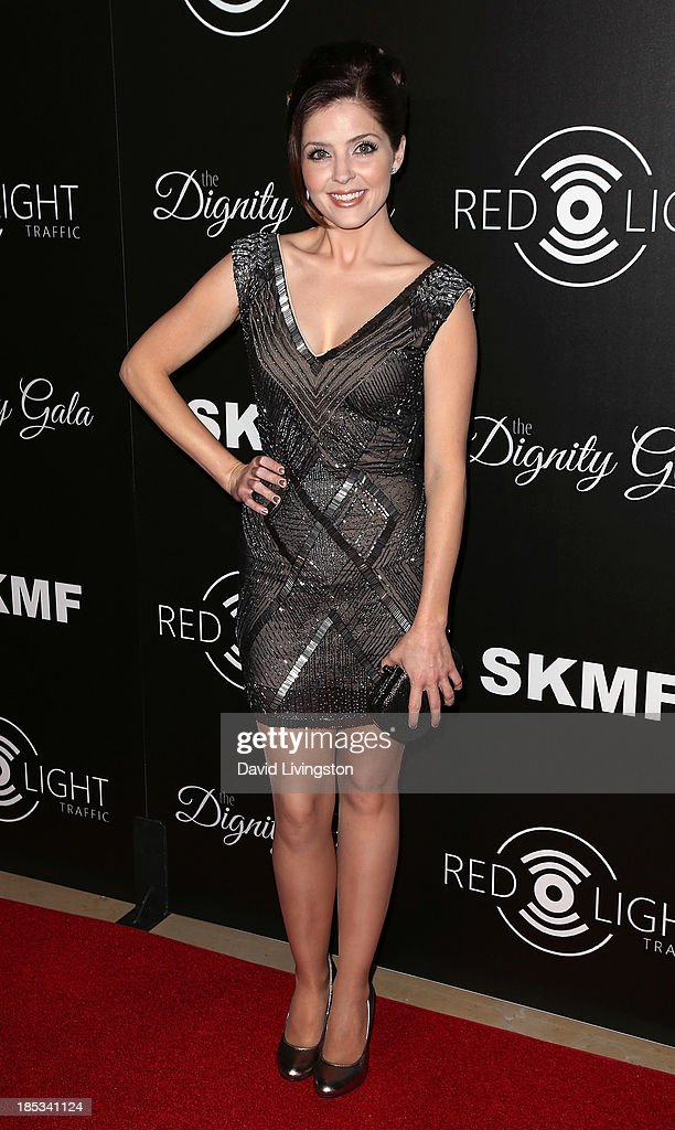 Actress Jen Lilley attends the launch of the Redlight Traffic app at the Dignity Gala at The Beverly Hilton Hotel on October 18, 2013 in Beverly Hills, California.