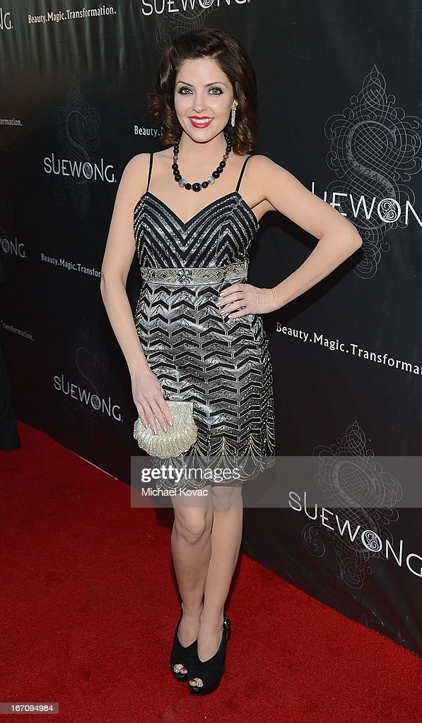 Actress Jen Lilley attends the Sue Wong Fall 2013 Great Gatsby Collection Unveiling and Birthday Celebration on April 19, 2013 in Los Angeles, California.