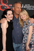 Actress Jena Malone actor Kevin Costner and actress Lindsay Pulsipher attend the premiere of 'Hatfields McCoys' at Milk Studios on May 21 2012 in Los...