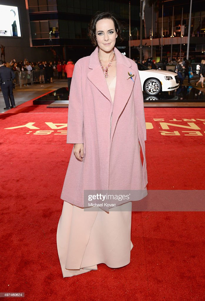 Actress Jena Malone attends 'Hunger Games: Mockingjay Part 2' Los Angeles Premiere Sponsored By Chrysler on November 16, 2015 in Los Angeles, California.