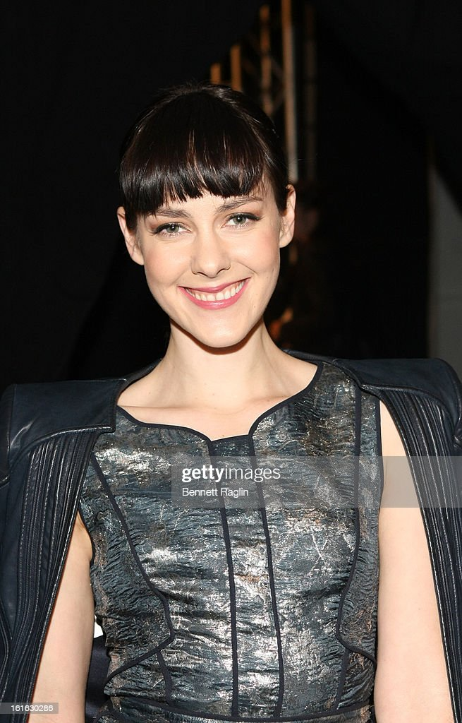 Actress Jena Malone attends J. Mendel during Fall 2013 Mercedes-Benz Fashion Week at The Theatre at Lincoln Center on February 13, 2013 in New York City.