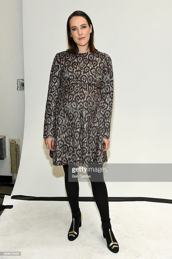 Actress <a gi-track='captionPersonalityLinkClicked' href=/galleries/search?phrase=Jena+Malone&family=editorial&specificpeople=216548 ng-click='$event.stopPropagation()'>Jena Malone</a> backstage at the Jill Stuart fashion show during Fall 2016 New York Fashion Week at Industria Superstudio on February 13, 2016 in New York City.