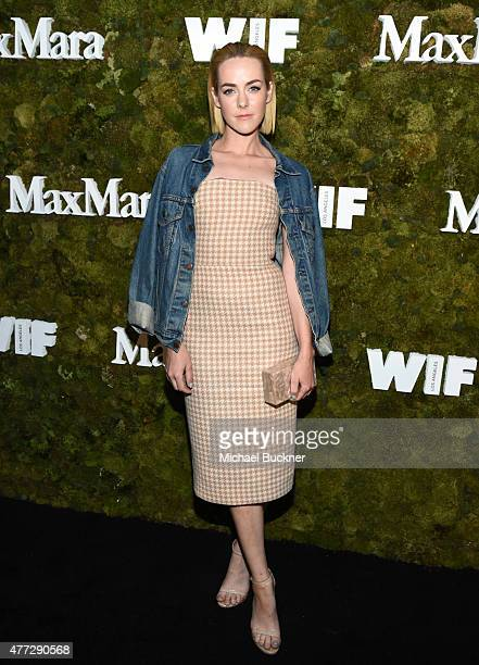 Actress Jena Malone wearing Max Mara attends The Max Mara 2015 Women In Film Face Of The Future event at Chateau Marmont on June 15 2015 in West...