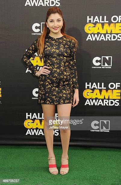 Actress Jenessa Rose arrives at the 4th Annual Cartoon Network Hall Of Game Awards at Barker Hangar on February 15 2014 in Santa Monica California