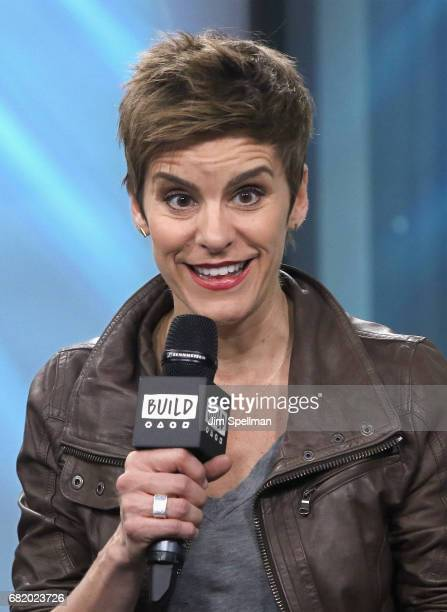 Actress Jenn Colella attend Build to discuss 'Come From Away' at Build Studio on May 11 2017 in New York City