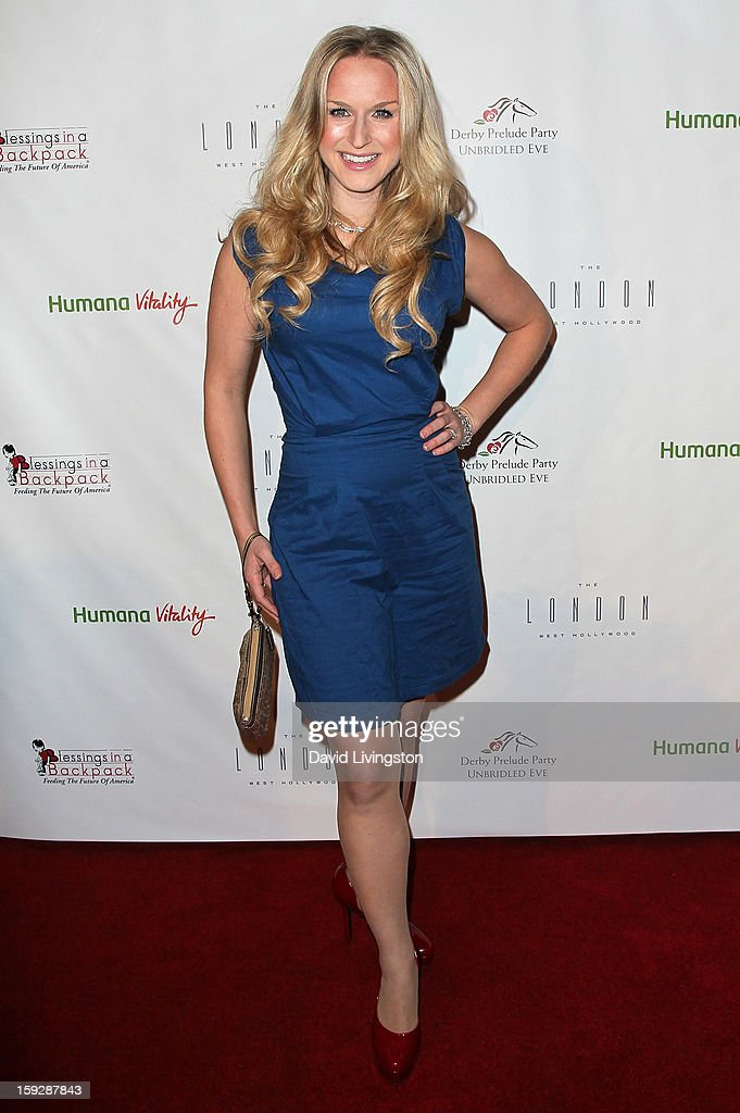 Actress Jenn Gotzon attends the Kentucky Derby Prelude Party at The London West Hollywood on January 10, 2013 in West Hollywood, California.
