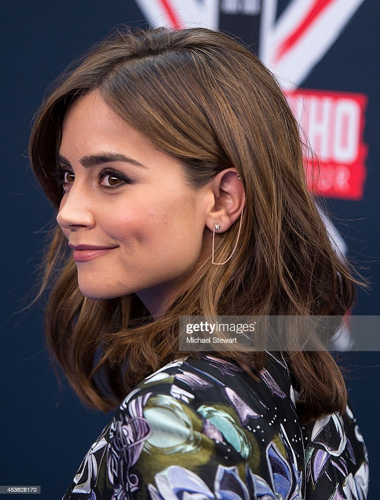 Actress Jenna Coleman attends BBC America's 'Doctor Who' Premiere Fan Screening at Ziegfeld Theater on August 14, 2014 in New York City.