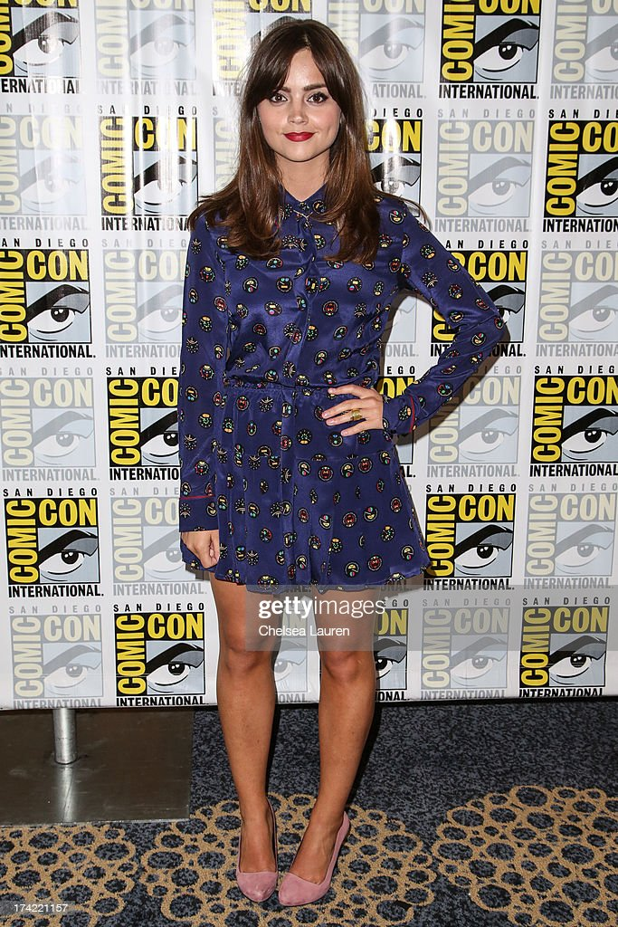 Actress Jenna Coleman poses during the 'Doctor Who' press line during day 4 of Comic-Con International on July 21, 2013 in San Diego, California.