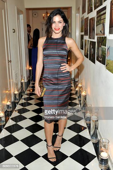 Actress Jenna Dewan attends the Superga XO Jennifer Meyer Collection Launch Celebration at Chateau Marmont on February 9 2016 in Los Angeles...