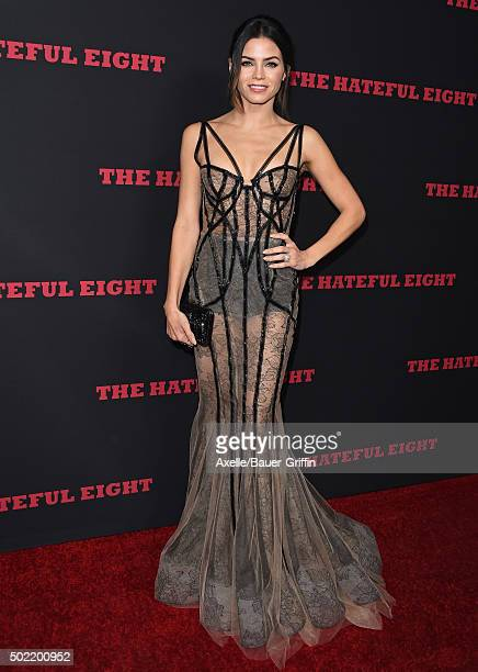 Actress Jenna Dewan Tatum arrives at the Los Angeles Premiere of 'The Hateful Eight' at ArcLight Cinemas Cinerama Dome on December 7 2015 in...