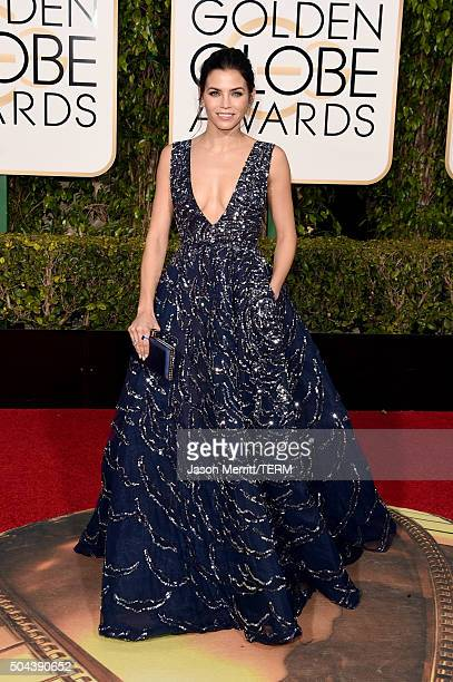 Actress Jenna Dewan Tatum attends the 73rd Annual Golden Globe Awards held at the Beverly Hilton Hotel on January 10 2016 in Beverly Hills California