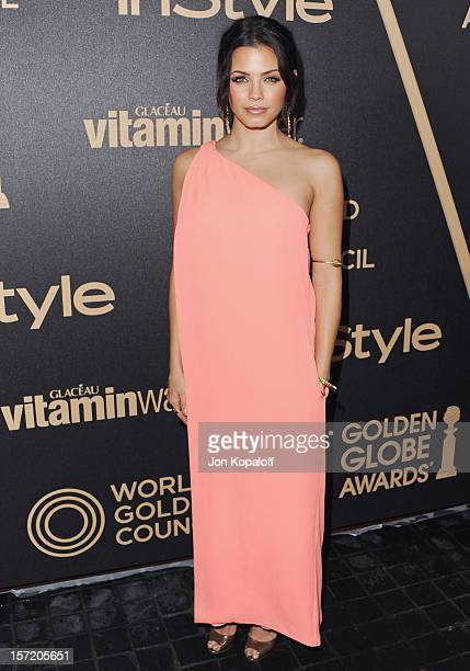 Actress Jenna DewanTatum arrives at The Hollywood Foreign Press Association And InStyle Miss Golden Globe 2013 Party at Cecconi's Restaurant on...