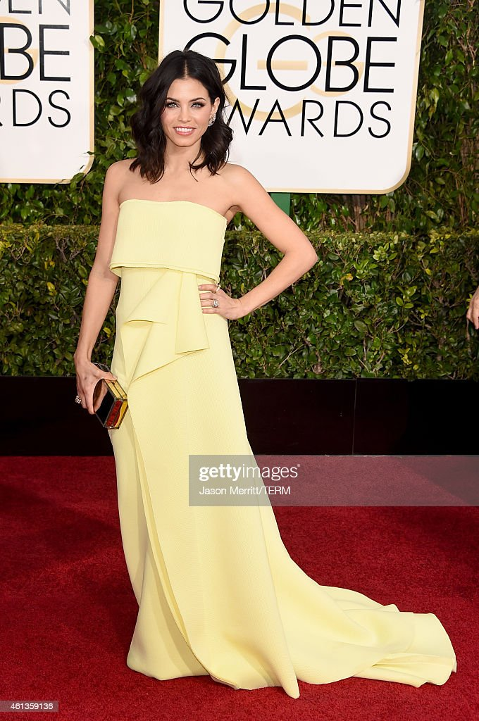 Actress Jenna DewanTatum attends the 72nd Annual Golden Globe Awards at The Beverly Hilton Hotel on January 11 2015 in Beverly Hills California