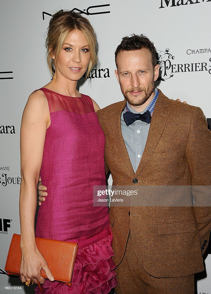 Actress Jenna Elfman and Bodhi Elfman attend the 6th annual Women In Film pre-Oscar cocktail party at Fig & Olive Melrose Place on February 22, 2013 in West Hollywood, California.