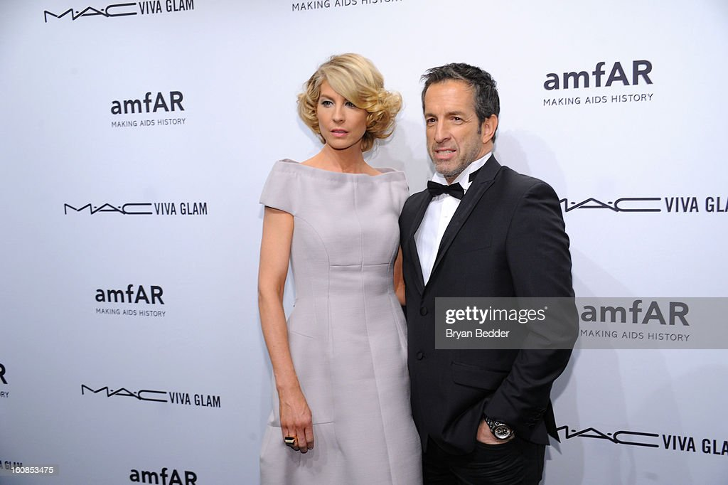 Actress Jenna Elfman and designer Kenneth Cole attend the amfAR New York Gala to kick off Fall 2013 Fashion Week at Cipriani Wall Street on February 6, 2013 in New York City.