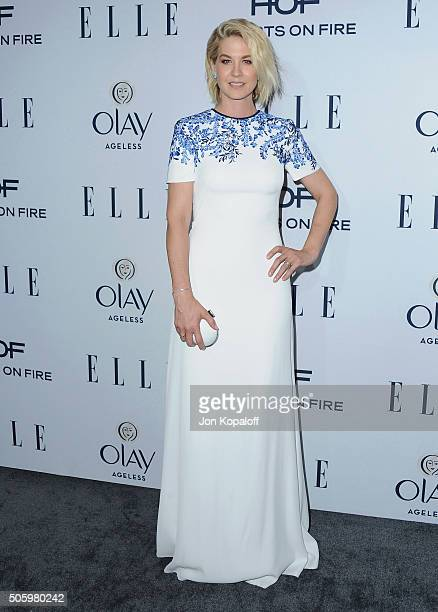 Actress Jenna Elfman arrives at ELLE's 6th Annual Women In Television Dinner at Sunset Tower Hotel on January 20 2016 in West Hollywood California