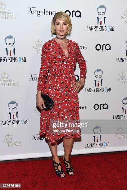 Actress Jenna Elfman arrives at Larry King's 60th Broadcasting Anniversary Event at HYDE Sunset Kitchen Cocktails on May 1 2017 in West Hollywood...